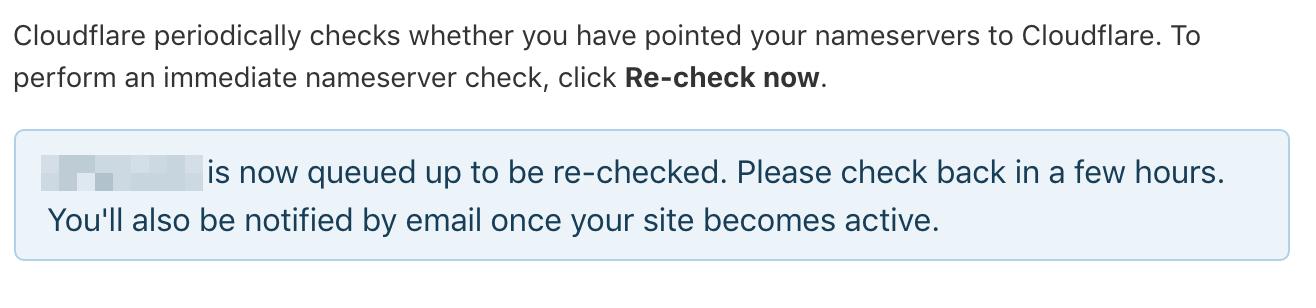 cloudflare site queued